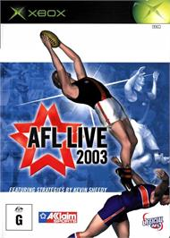 Box cover for AFL Live 2003 on the Microsoft Xbox.