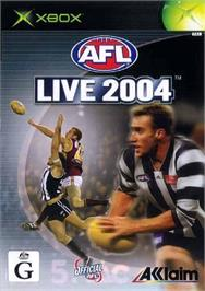 Box cover for AFL Live 2004 on the Microsoft Xbox.
