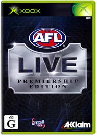 Box cover for AFL Live Premiership Edition on the Microsoft Xbox.