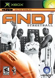 Box cover for AND 1 Streetball on the Microsoft Xbox.