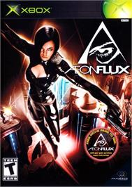 Box cover for Aeon Flux on the Microsoft Xbox.