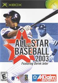 Box cover for All-Star Baseball 2003 on the Microsoft Xbox.