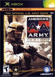Box cover for America's Army: Rise of a Soldier on the Microsoft Xbox.