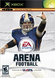 Box cover for Arena Football on the Microsoft Xbox.