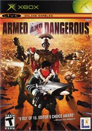 Box cover for Armed and Dangerous on the Microsoft Xbox.