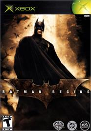 Box cover for Batman Begins on the Microsoft Xbox.