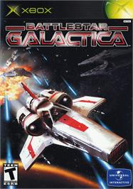 Box cover for Battlestar Galactica on the Microsoft Xbox.