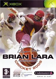 Box cover for Brian Lara International Cricket 2005 on the Microsoft Xbox.
