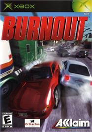 Box cover for Burnout on the Microsoft Xbox.