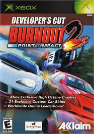 Box cover for Burnout 2: Point of Impact on the Microsoft Xbox.