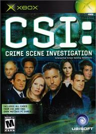 Box cover for CSI: Crime Scene Investigation on the Microsoft Xbox.