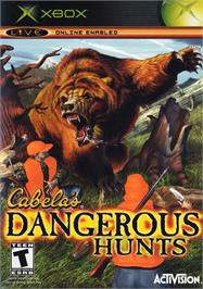Box cover for Cabela's Dangerous Hunts on the Microsoft Xbox.
