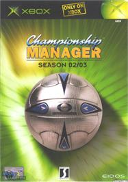 Box cover for Championship Manager: Season 02/03 on the Microsoft Xbox.