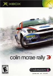 Box cover for Colin McRae Rally 3 on the Microsoft Xbox.