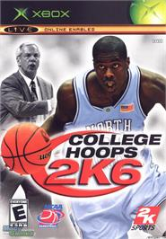 Box cover for College Hoops 2K6 on the Microsoft Xbox.