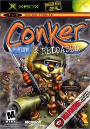 Box cover for Conker: Live & Reloaded on the Microsoft Xbox.