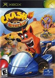 Box cover for Crash Nitro Kart on the Microsoft Xbox.