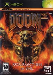 Box cover for DOOM³: Resurrection of Evil on the Microsoft Xbox.