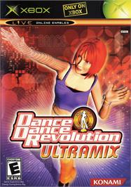 Box cover for Dance Dance Revolution Ultramix on the Microsoft Xbox.