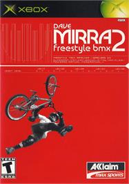Box cover for Dave Mirra Freestyle BMX 2 on the Microsoft Xbox.