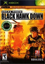 Box cover for Delta Force: Black Hawk Down on the Microsoft Xbox.
