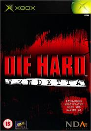 Box cover for Die Hard: Vendetta on the Microsoft Xbox.
