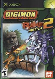 Box cover for Digimon Rumble Arena 2 on the Microsoft Xbox.