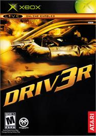 Box cover for Driv3r on the Microsoft Xbox.