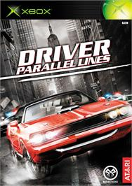 Box cover for Driver: Parallel Lines on the Microsoft Xbox.