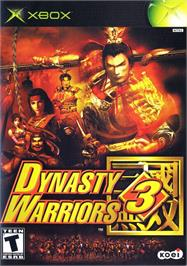 Box cover for Dynasty Warriors 3 on the Microsoft Xbox.