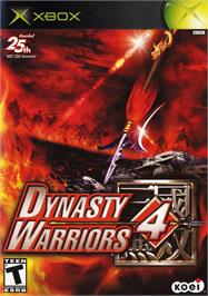 Box cover for Dynasty Warriors 4 on the Microsoft Xbox.