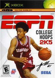 Box cover for ESPN College Hoops 2K5 on the Microsoft Xbox.