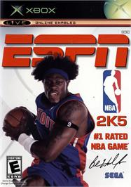 Box cover for ESPN NBA 2K5 on the Microsoft Xbox.