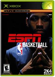 Box cover for ESPN NBA Basketball on the Microsoft Xbox.
