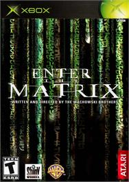 Box cover for Enter the Matrix on the Microsoft Xbox.