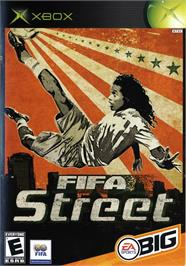 Box cover for FIFA Street on the Microsoft Xbox.