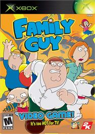 Box cover for Family Guy Video Game on the Microsoft Xbox.