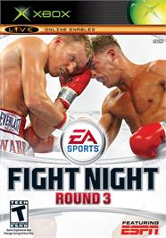 Box cover for Fight Night Round 3 on the Microsoft Xbox.
