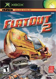 Box cover for FlatOut 2 on the Microsoft Xbox.