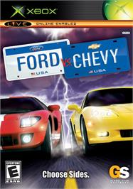 Box cover for Ford Vs. Chevy on the Microsoft Xbox.