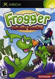 Box cover for Frogger: Ancient Shadow on the Microsoft Xbox.