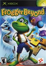 Box cover for Frogger Beyond on the Microsoft Xbox.