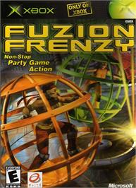 Box cover for Fuzion Frenzy on the Microsoft Xbox.