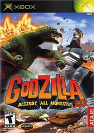 Box cover for Godzilla: Destroy All Monsters Melee on the Microsoft Xbox.