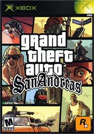 Box cover for Grand Theft Auto: San Andreas on the Microsoft Xbox.