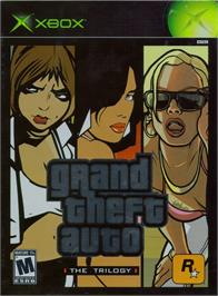 Box cover for Grand Theft Auto: The Trilogy on the Microsoft Xbox.