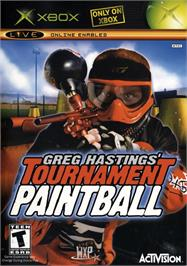 Box cover for Greg Hastings' Tournament Paintball on the Microsoft Xbox.