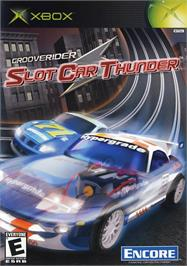 Box cover for GrooveRider:  Slot Car Thunder on the Microsoft Xbox.