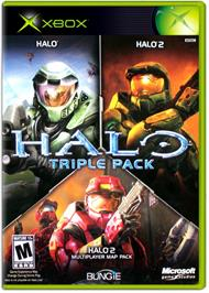 Box cover for Halo Triple Pack on the Microsoft Xbox.