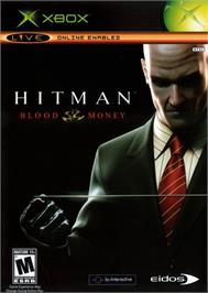 Box cover for Hitman: Blood Money on the Microsoft Xbox.